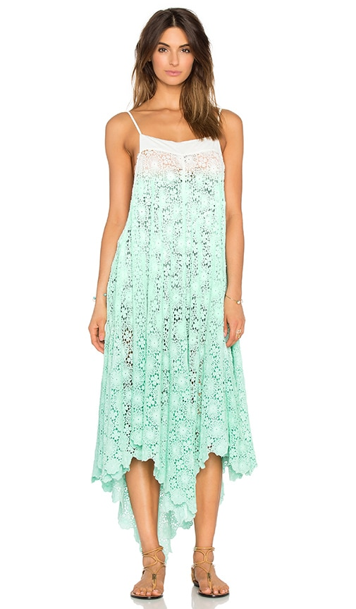 6 SHORE ROAD Southbay Lace Cover Up Dress in Green