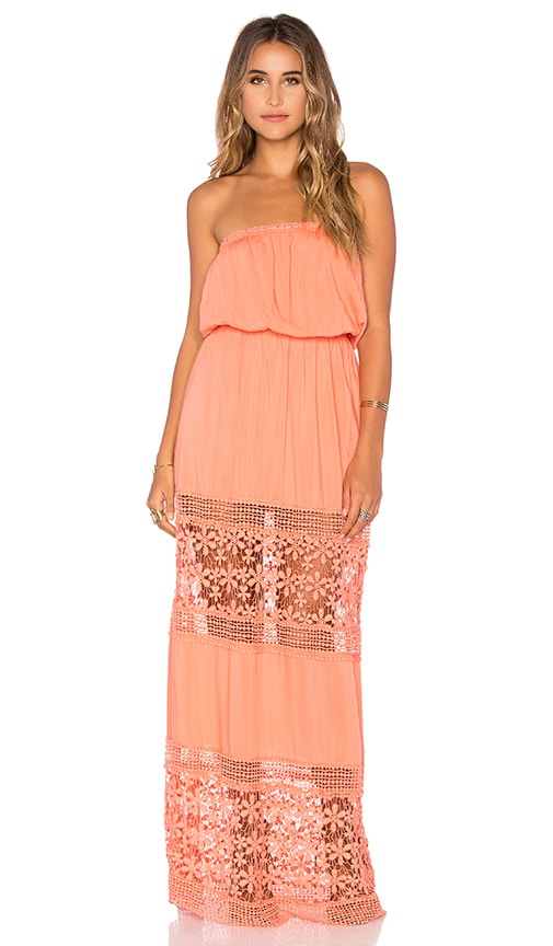 6 SHORE ROAD Charlotte Maxi Dress in Orange