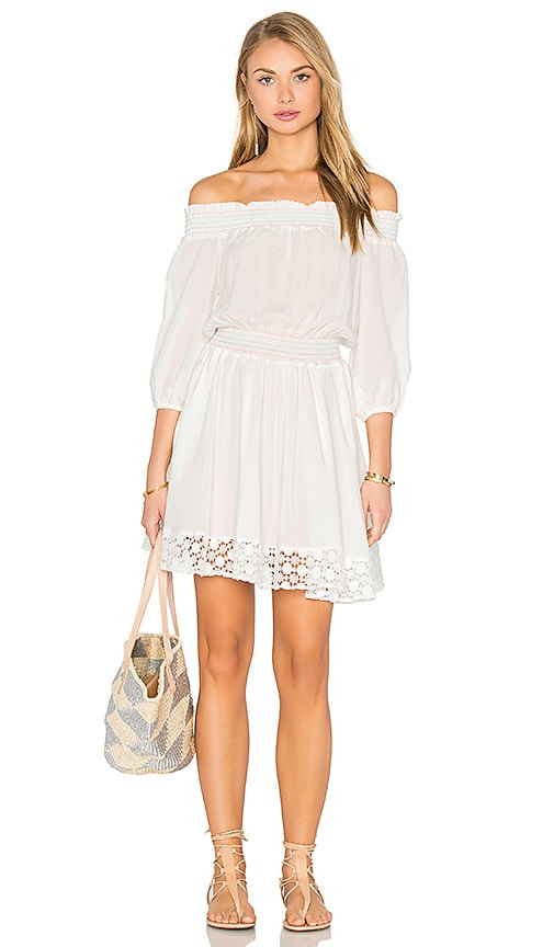 6 SHORE ROAD Brunchtime Dress in White