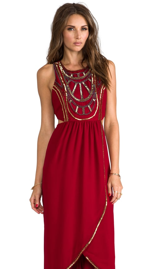 Psychedelic Embellished Maxi Dress