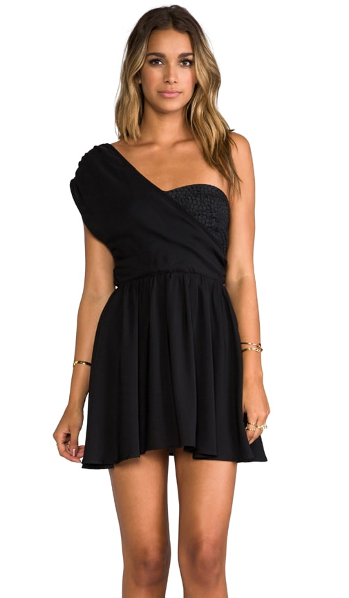 Wander Lust One Shoulder Mini Dress