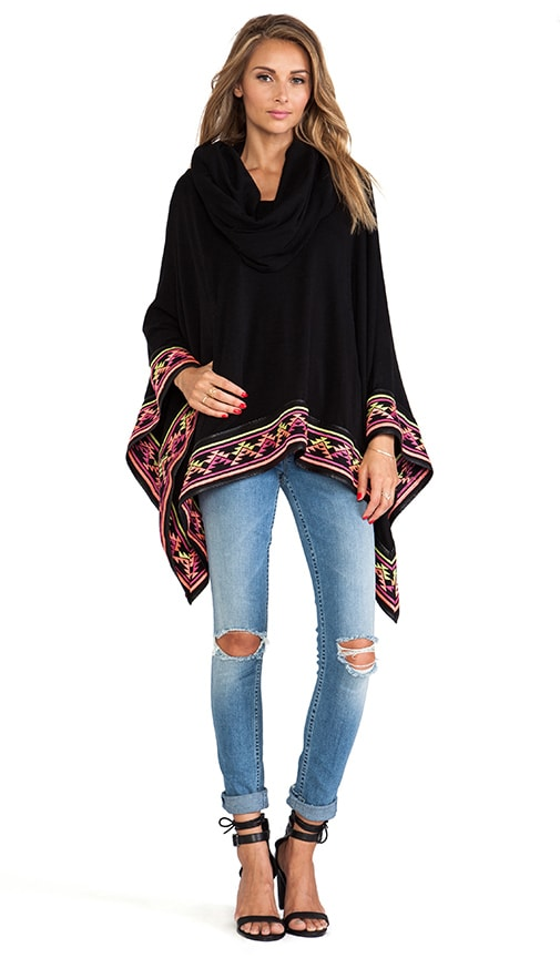 Desert's Embroidered Poncho
