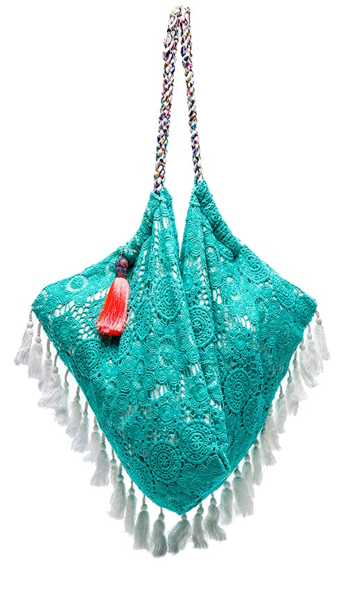 6 SHORE ROAD Sunset Beach Bag in Turquoise