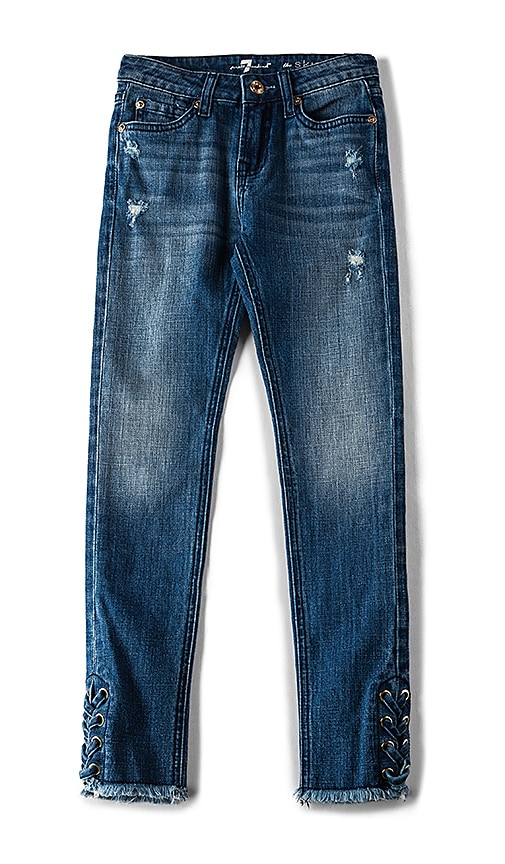 7 For All Mankind Kids The Skinny in Authentic Washed Indigo