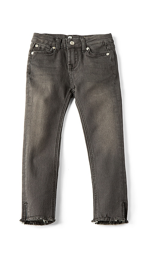 7 For All Mankind Kids The Ankle Skinny in Charcoal