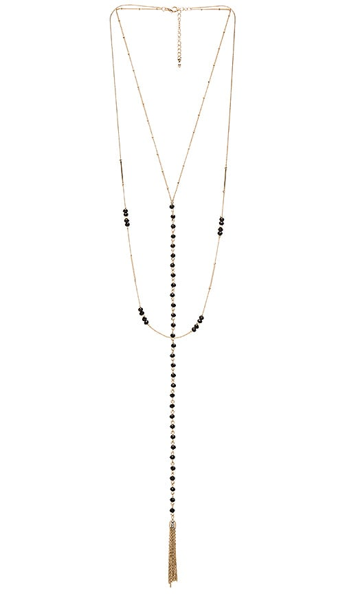 8 Other Reasons Andrea Rosary Necklace in Metallic Gold