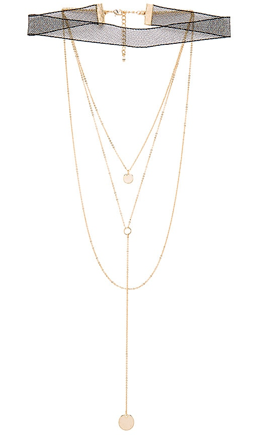 8 Other Reasons X REVOLVE Devin Choker in Metallic Gold