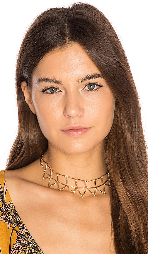 8 Other Reasons Web Choker in Metallic Gold