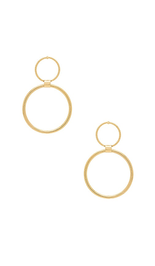 8 Other Reasons Ring of Fire Earring in Metallic Gold