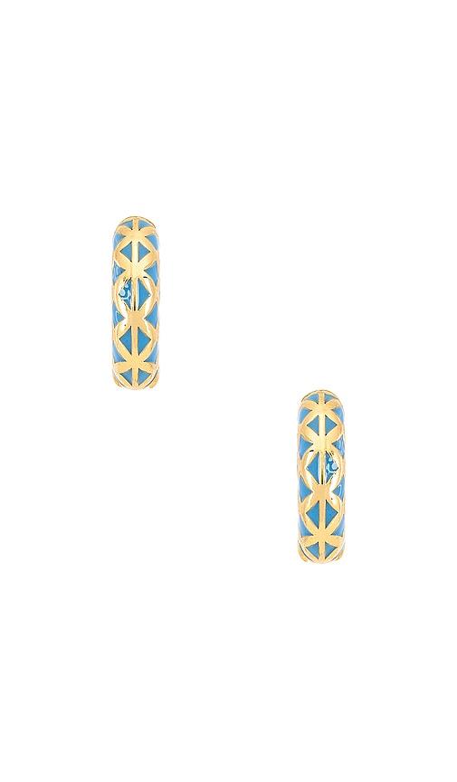 Posh Blue Earrings