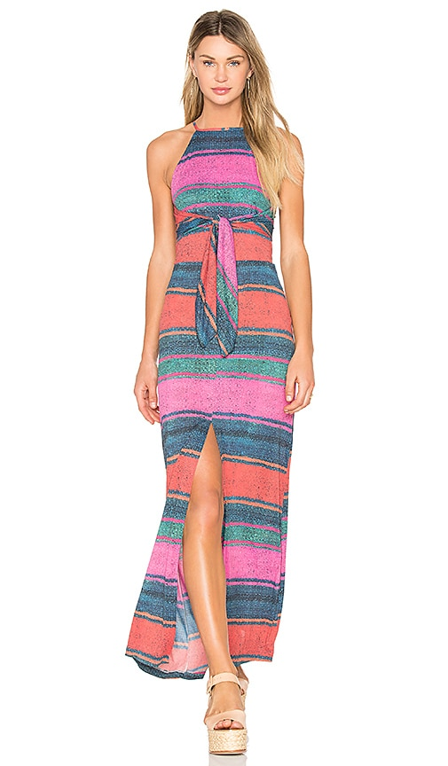 AGUADECOCO Mesh Long Dress in Pink