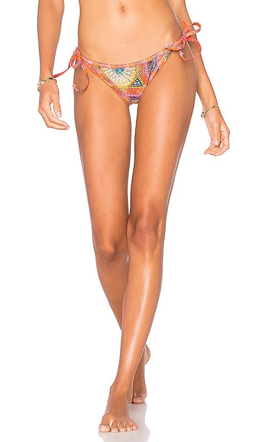AGUADECOCO Side Tie Bikini Bottom in Pink