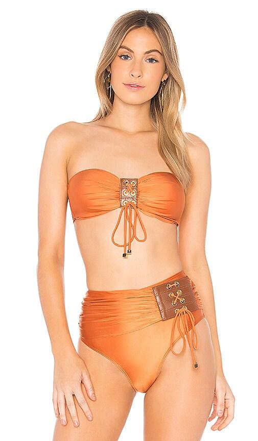 AGUADECOCO Jakarta Bikini Top in Orange
