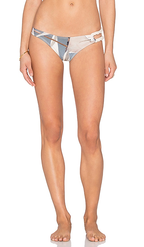 AGUADECOCO Sailor Rope Side Brazilian Bottom in Blue & White