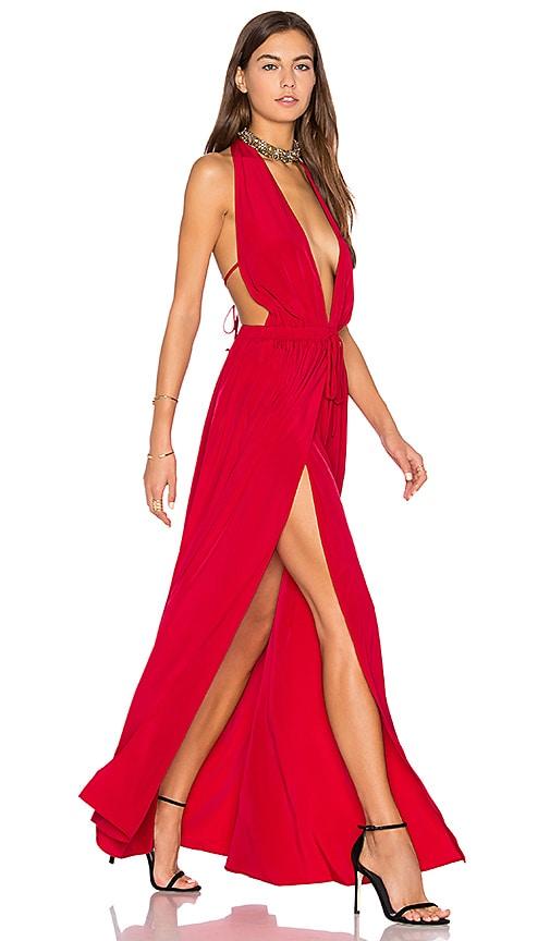 Assali x REVOLVE Chi Dress in Red