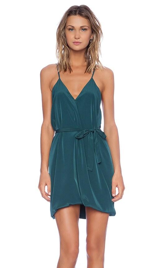 Assali Lavinia Mini Dress in Forest Green