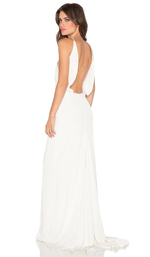 Assali Paola Grande Maxi Dress in Cream