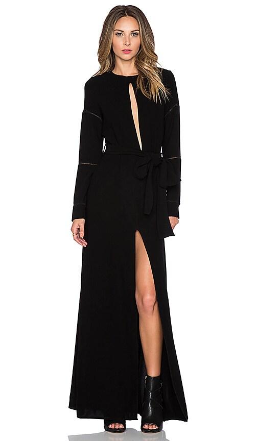Assali Quizotic Maxi Dress in Black