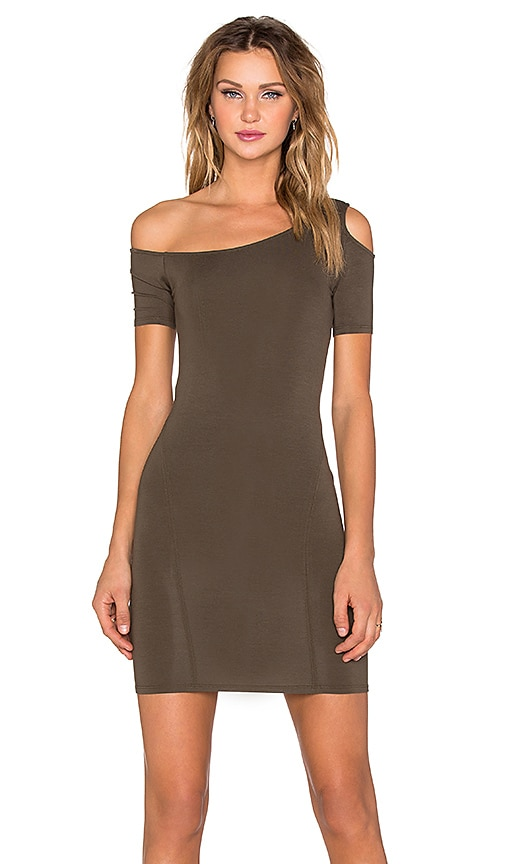 Assali Rapture Mini Dress in Army Green