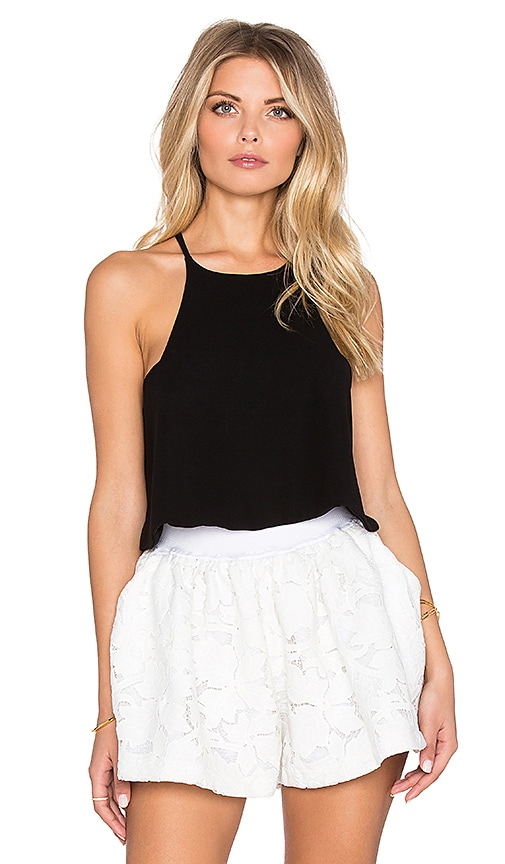 Assali Blush Crop Top in Black