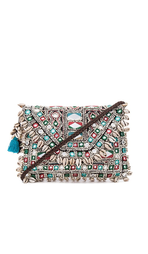 Antik Batik Korine Clutch in Brown