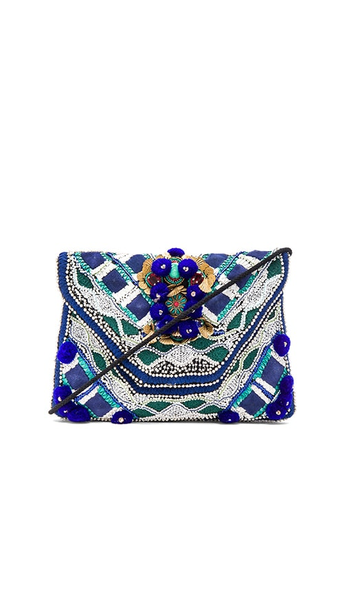 Antik Batik Margot Clutch in Blue