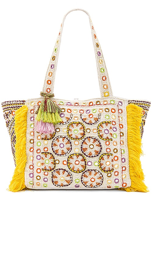 Antik Batik Kinocabas Tote Bag in Yellow