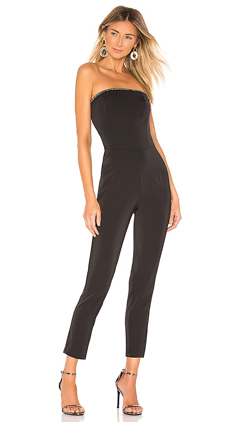 Allison Beaded Strapless Jumpsuit