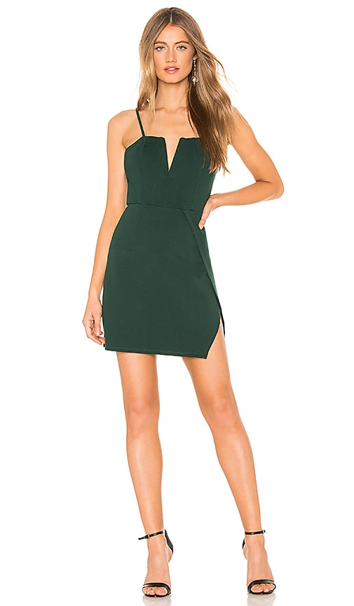 f74945b413901 About Us Josie Wrap Mini Dress in Forrest Green | REVOLVE