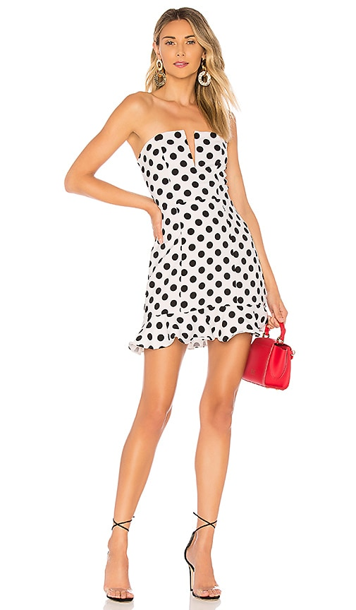 4372078a1f9 About Us Karla Polka Dot Dress in Black   White