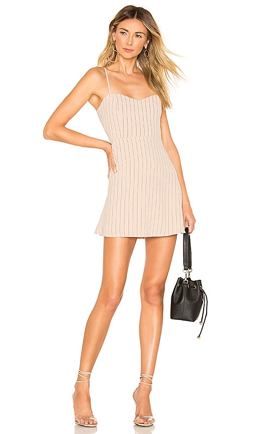 About Us Violet Sweetheart Mini Dress in Nude | REVOLVE
