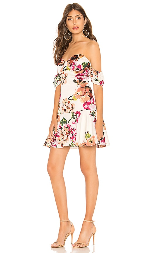 About Us Maddie Off Shoulder Dress in White