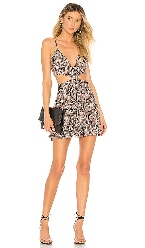 Bristol Snake Print Dress by About Us