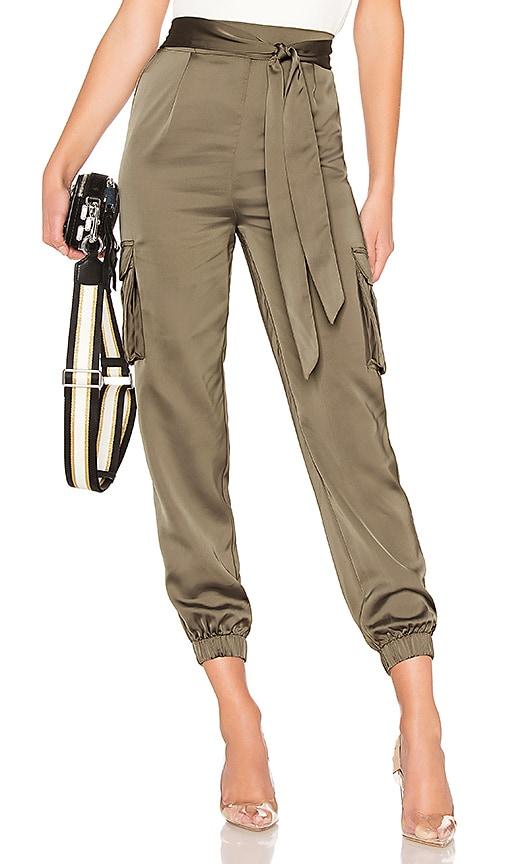 Rachel Satin Cargo Pants