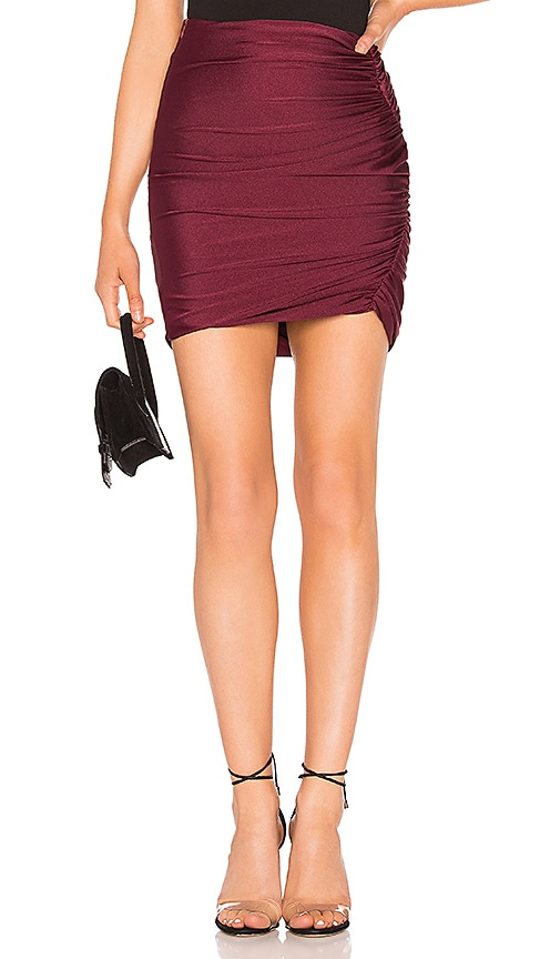 Ava Ruched Mini Skirt by About Us