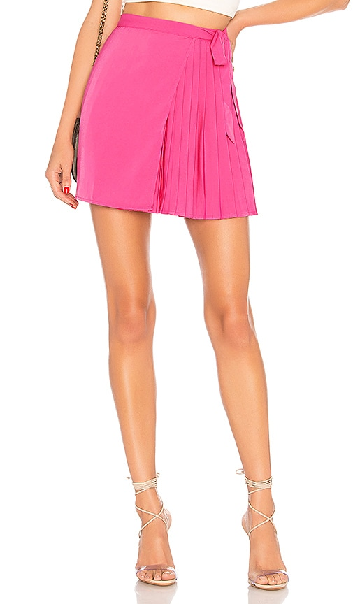 2947c82c3 About Us Briana Pleated Wrap Skirt in Pink | REVOLVE