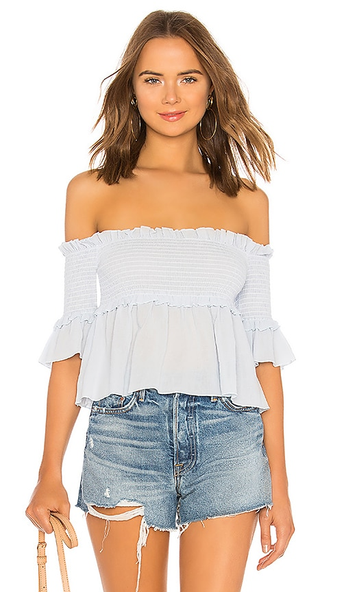 Dolly Off Shoulder Smocked Top