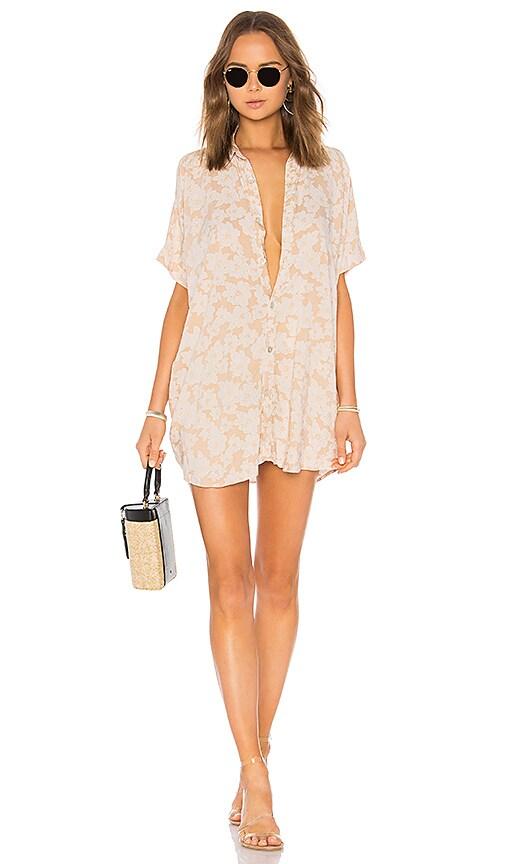 Mombasa Shirt Dress in Cream. - size M (also in L,S,XS) Acacia Swimwear