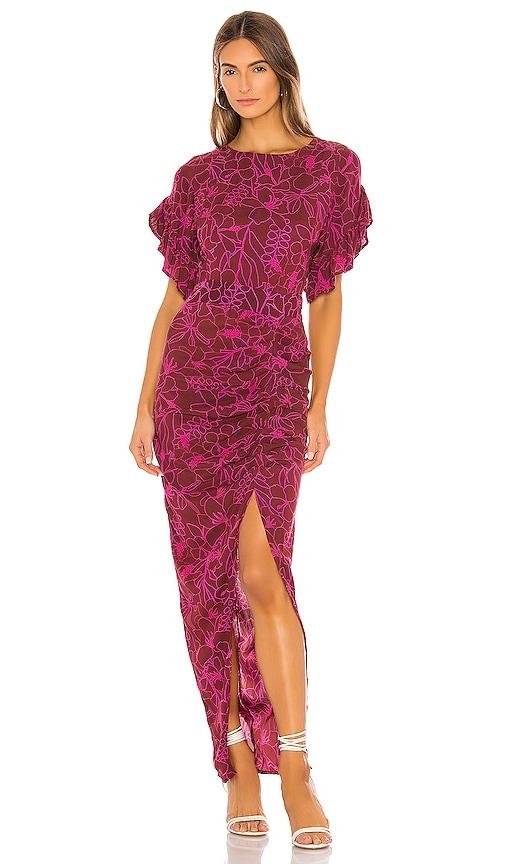 X REVOLVE Luau Dress in Purple. Size L (also in XS,S,M).