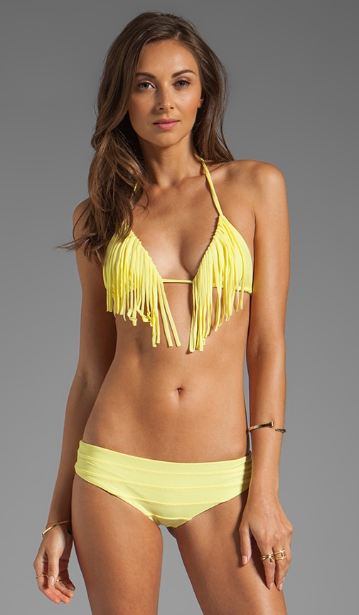Montauk Fringe Triangle Bikini Top