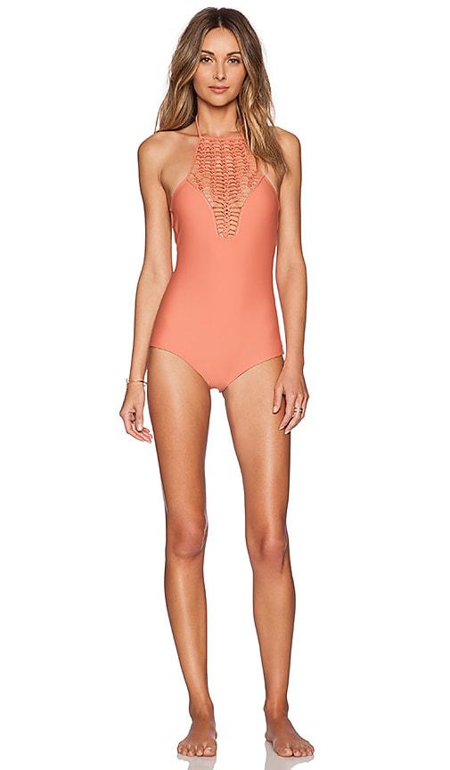 751530d877 Acacia Swimwear Teahupo'o Swimsuit in Papaya   REVOLVE