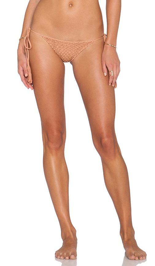 Acacia Swimwear Polihale Bikini Bottom in Tan