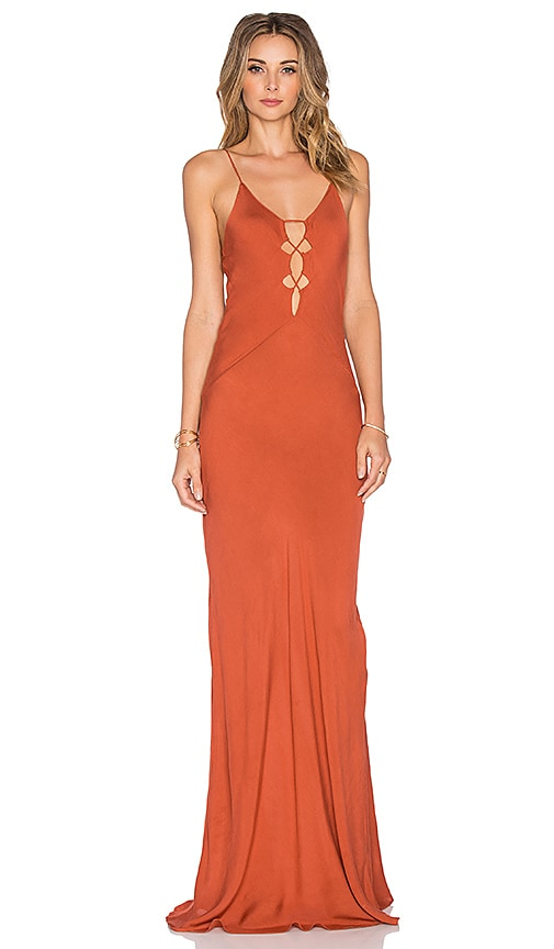 Acacia Swimwear Brawa Maxi Dress in Orange