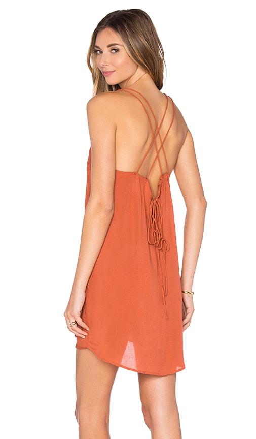 Acacia Swimwear Kama'aina Mini Dress in Rust