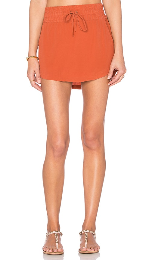 Acacia Swimwear Kipahulu Short Skirt in Rust