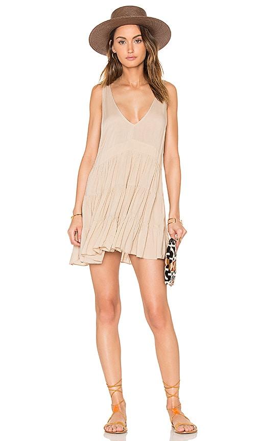 Acacia Swimwear Havana Mini Dress in Beige