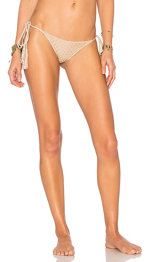 Acacia Swimwear Polihale Side Tie Bottom in Beige