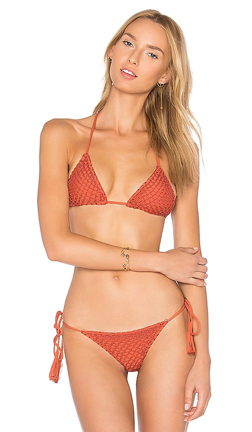 Acacia Swimwear Humuhumu Top in Orange