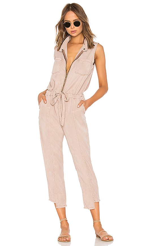 Ray Jumpsuit in Rose. - size L (also in M,S,XS) Young Fabulous & Broke