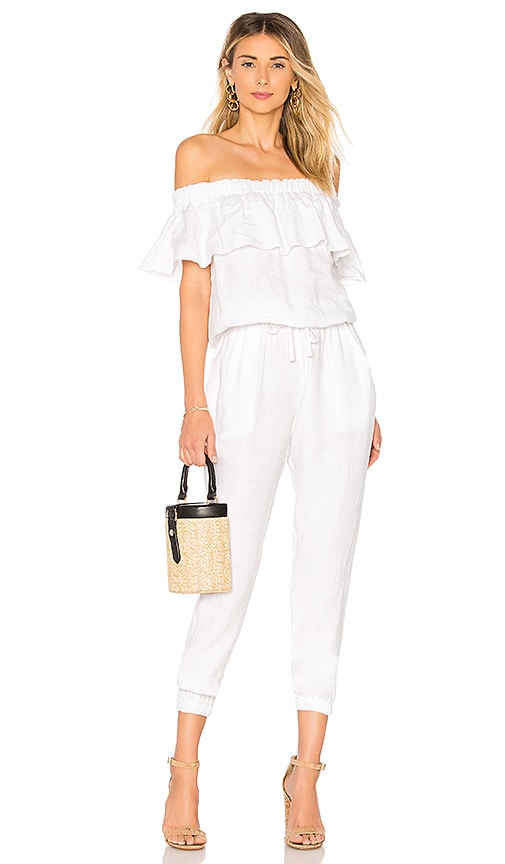 YFB CLOTHING Chels Jumpsuit in White